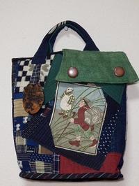 おとぎ話絵柄の手提げバッグ - 古布工房 小手毬