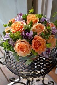 開店祝いに♪フラワーアレンジメント。 - 花色~あなたの好きなお花屋さんになりたい~