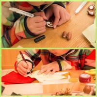 可愛いドングリオブジェ - 大阪府池田市 幼児造形教室「はるいろクレヨンのブログ」