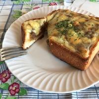 昨日のカレーde熱々チーズカレートースト☆ - パンのちケーキ時々わんこ