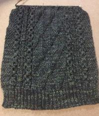 The Plucky Knitterのoxford2.0で編む風工房「アラン &ガンジーニット」からS.メンズアランセーター3 - のそのそ日記