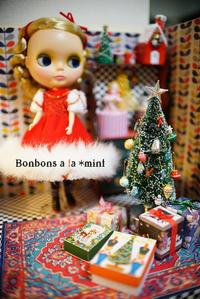 1/6サイズヴィンテージ風クリスマスツリー♪リカちゃん、ブライスにも - Bonbons a la *mint