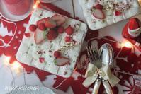 スコップケーキ de クリスマス* - お菓子教室*Blue Kitchen*便り ~ a pleasant blue kitchen ~