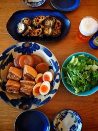 豚角煮、串カツ、鶏軟骨の塩焼き - エリンゲル日記
