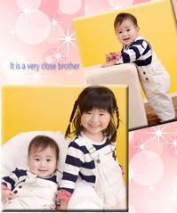 仲良し姉弟 - 中山写真館のブログです。
