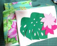 モンステラミニバッグキット - ほっと一息・・~Sakura's Hawaiian QuiltⅡ
