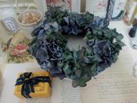 秋色紫陽花のリース - LeCaretteルカレット アトリエの日々のこと