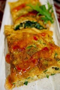 ■簡単5分で美味しい!!【クレソン入り三つ折り焼きの卵焼き】 - 「料理と趣味の部屋」