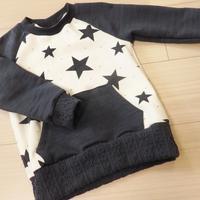 50 星柄×モノトーンのトレーナー - 星くずオルゴール~育児とハンドメイド~