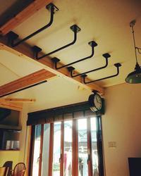 雲梯の完成写真を頂きました~♪ - スチール空間設計/鉄のクリエーターをめざせ!       螺旋階段・鉄骨階段・ロフト用ハシゴ・雲梯