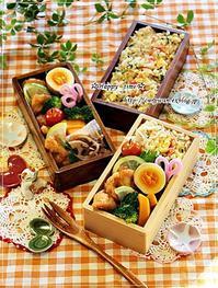 ほうれん草とカニカマ炒飯弁当とつぶやき~今夜はスキレットで♪ - ☆Happy time☆