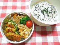 鶏つくね&海老玉炒め★(^^♪・・・・・高校生弁当 - 日だまりカフェ