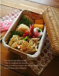 12.8炊き込みおにぎりとかき揚げ弁当&右か左か問題 - YUKA'sレシピ♪