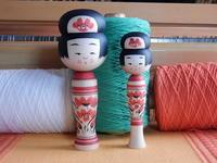 鈴木明工人作のこけし'1712月 - こけしと手織りの小部屋