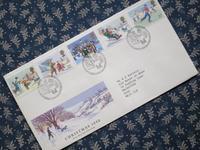 村のクリスマスの風景のFDC -  Der Liebling ~蚤の市フリークの雑貨手帖2冊目~