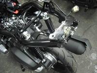 PCXのフェンレスキット - バイクの横輪