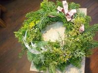 クリスマスリースのレッスン終了しました。 - ルーシュの花仕事