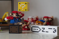 LEGO(ダイソーのプチブロック )でロゴを作る - ( どーもボキです > Z_ ̄∂