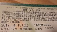 今年の観戦を振り返る③ 4/15阪神戦 - 新・跳ねすぎ!まるた鯉