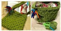 お客様作品ギャラリー♪ - 空色テーブル  編み物レッスン&編み物カフェ