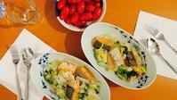 寒いので、白菜とマスのミルク煮 - ロンドンの食卓