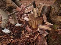 薪割りな近頃 - お山の宿 みちつじ