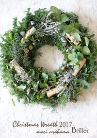 Christmas wreath 2017 ♪ - at the table