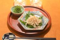 肉豆腐/イカの煎り酒風味大葉添え - まほろば日記