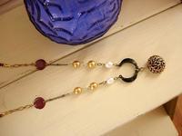 ビンテージシャネルのボタンとルナのネックレス -  かざり工房サリュー 職人さんのいるお店