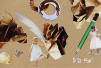 COLLAGE CARD #90 : It'S me!「それは、私ダ!」 - maki+saegusa
