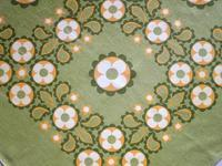 緑+黄色系プリントのテーブル・クロス -  Der Liebling ~蚤の市フリークの雑貨手帖2冊目~