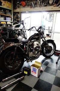 1980XLH1000 エンジン始動 - Vintage motorcycle study