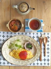 オムライスの朝ごはん - 陶器通販・益子焼 雑貨手作り陶器のサイトショップ 木のねのブログ