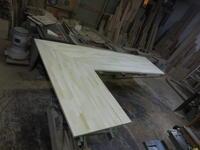カウンターテーブルの天板組み立て - 手作り家具工房の記録