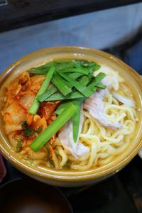 琉球麺茉家チゲそばと中落ち生姜そば - ちゅらかじとがちまやぁ