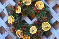 庭の植物でクリスマスリース  Handmade Christmas Wreath made of My Garden Plants - お茶の時間にしましょうか-キャロ&ローラのちいさなまいにち- Caroline & Laura's tea break