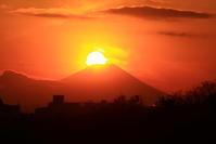 29年12月の富士(15)ダイヤモンド富士 - 富士への散歩道 ~撮影記~