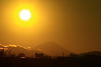 29年12月の富士(16)ダイヤモンド富士 - 富士への散歩道 ~撮影記~