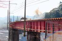 大井川第一橋梁を渡るクリスマスジェームス! - 子どもと暮らしと鉄道と