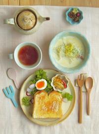 シンプル朝ごはん - 陶器通販・益子焼 雑貨手作り陶器のサイトショップ 木のねのブログ