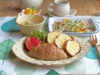てんこ盛りパンの朝ごはん - 陶器通販・益子焼 雑貨手作り陶器のサイトショップ 木のねのブログ