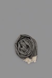 P CORNILLON Black Stripe Stole - un.regard.moderne