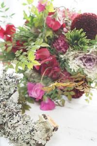お正月花レッスンについて - お花に囲まれて