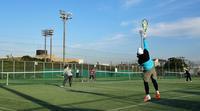 市営コートで今日もテニス - 東金、折々の風景