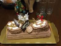 今年もチビちゃんからのブッシュドノエルが届きました - 豆ズがやって来た!ニャア!ニャア!ニャア!