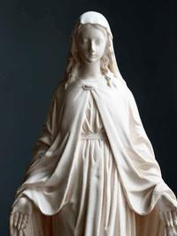 無原罪の御宿り 27.5cm 蛇を踏みつける聖母マリア /E921 - Glicinia 古道具店