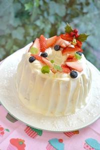 シフォンクリスマスケーキと作ったケーキあれこれ - 調布の小さな手作りお菓子教室 アトリエタルトタタン