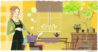 DHC olivechannel お掃除に役立つアロマセラピー - まゆみん MAYUMIN Illustration Arts
