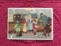 フランスのクロモカード 《冬のヴァカンスから帰ってきた子供たち》(ボン・マルシェ百貨店) - ルドゥーテのバラの庭のブログ