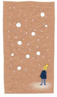雪の日は世界が水玉模様になるね - 手製本クリエイター&切絵コラージュ作家 yukai の暮らしを愉しむヒント